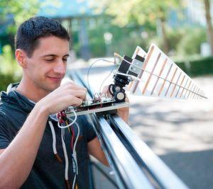Radar-Drohne sucht Minen