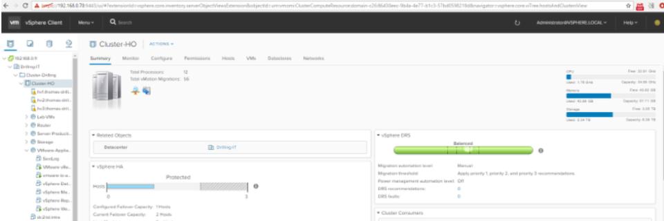 Der neue HTML5-CLient für vSphere 6.5 (Bild: Thomas Drilling)