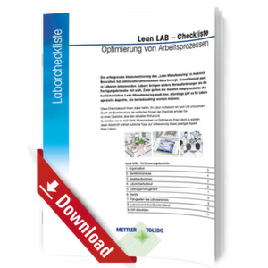 Checkliste für optimierte Arbeitsprozesse im Labor