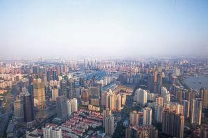 Vue aérienne de Shanghai, le lieu du prochain voyage d'étude, le IoT Fact Finding.