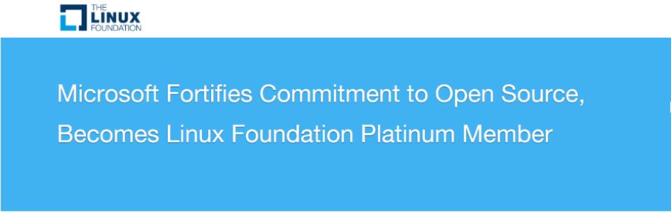 Microsoft flirtet erneut mit Linux (Linux Foundation).