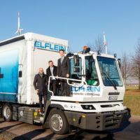 40-Tonner mit Elektroantrieb liefert Teile für BMW i3 und i8 in Leipzig