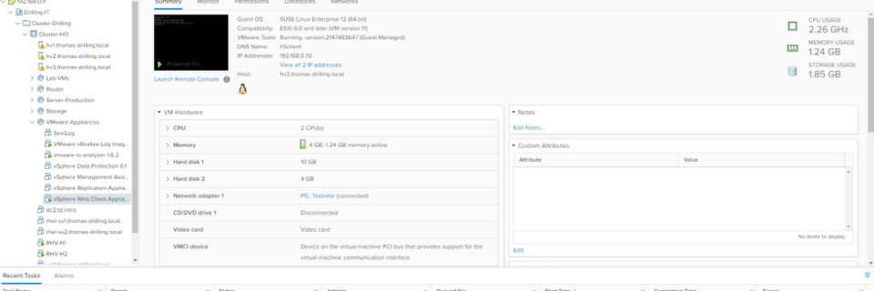 vSphere 6.5 bringt den neuen HTML5-Client zum Ausprobieren mit (Thomas Drilling).