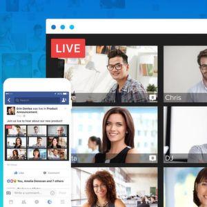 Many-to-Many-Broadcasting über Facebook Live