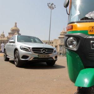 Mercedes GLC: Höllenritt im SUV durch Bangalore