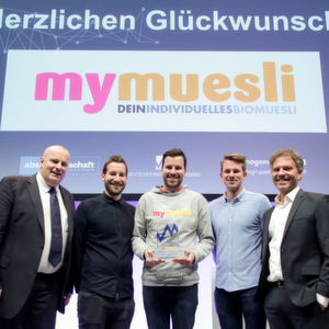 mymuesli holt sich den Deutschen Marketing Preis 2016