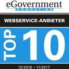 Die Top 10 Webservice-Anbieter 12/2016 - 11/2017