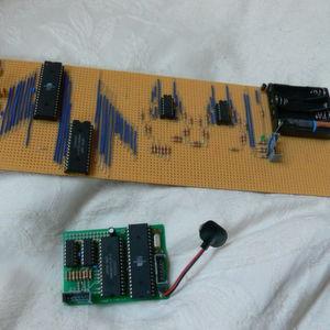 Ur-Raspberry Pi, handmontiert mit Atmels ATmega644