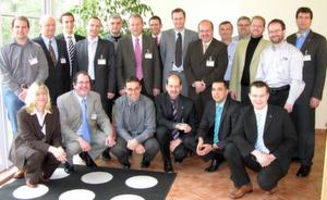 Systemintegratoren und Wachendorff-Mitarbeiter auf der Systemintegratoren-Tagung.