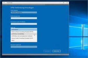 Aktuelle Betriebssysteme wie hier Windows 10 besitzen heute bereits integrierte Möglichkeiten, eine Verbindung zu einem VPN aufzubauen.