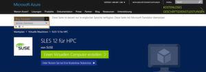 Microsoft macht mit Linux ernst: SLES 12 für HPC auf Azure kommt auf die Rechenknoten eines Microsoft HPC-Clusters mit dem HPC Pack 2016