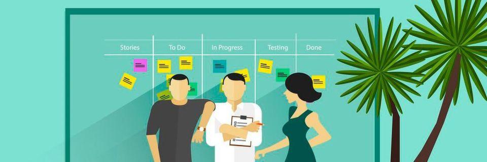 Agile Softwareentwicklung erfordert Teamarbeit und agile Methoden wie Scrum, um möglichst effizient zu sein.