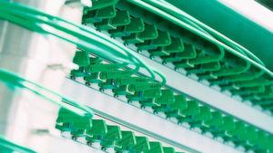 Glasfaserleiter sorgen für die nötige Bandbreite.