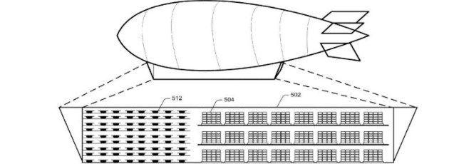 Fliegende Lagerhallen: Wie aus einem kürzlich bekannt gewordenem US-Patent hervorgeht überlegt Amazon, Luftschiffe für die Lagerung von Waren über Großstädten zu nutzen, die von dort aus in Windeseile per Drohne zugestellt werden können.