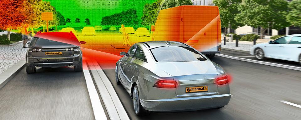 Continental entwikelt die nächste Stufe des so genannten Umfeldmodells, bei dem Sensoren die Umgebung um das Fahrzeug dreidimensional erfassen.