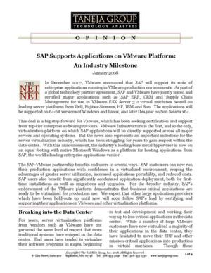 SAP-Lösungen in virtuellen Umgebungen