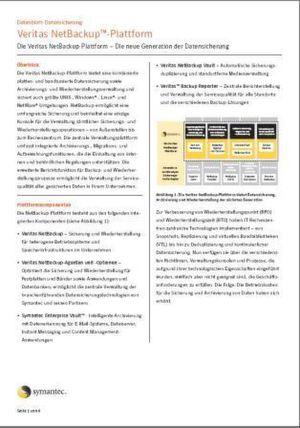 Die Veritas NetBackup-Plattform