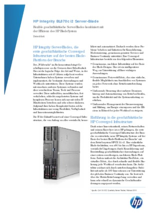 Flexible geschäftskritische Server-Blades mit Effizienz