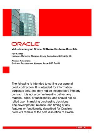Virtualisierung von A bis Z mit Oracle