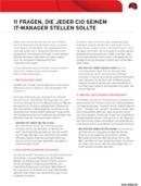 11 Fragen, die jeder CIO seinem IT-Manager stellen sollte