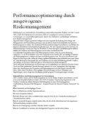 Performanceoptimierung durch ausgewogenes Risikomanagement