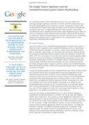 Google Search Appliance und das Umweltinformationssystem