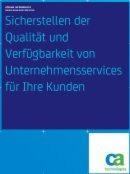 Qualität und Verfügbarkeit von Unternehmensservices