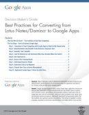 Best Practices für den Umstieg von LotusNotes auf GoogleApps
