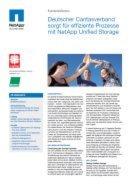 Effiziente Prozesse mit NetApp Unified Storage