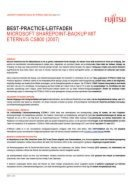 Microsoft Sharepoint-Backup mit Eternus CS800