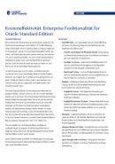 Enterprise Funktionalität für Oracle Standard Edition