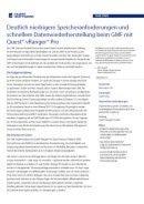 Speicheranforderung und Datenwiederherstellung