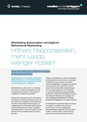 Behavioral Marketing durch intelligente Marketing Automation