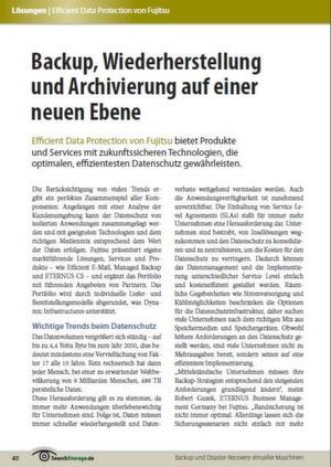 Backup, Wiederherstellung und Archivierung auf einer neuen Ebene