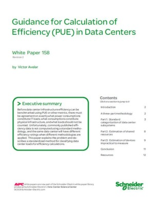 Efficiency (PUE) in Data Centers