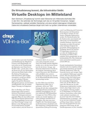 Virtuelle Desktops im Mittelstand