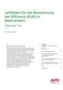 Die Berechnung der Effizienz (PUE) in Datacentern