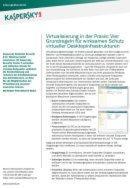 Grundregeln für den Schutz virtueller Desktopinfrastrukturen