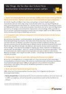 Vier wichtige Dinge für den Schutz eines Unternehmens