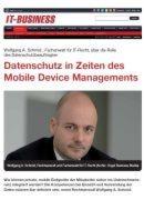 Datenschutz in Zeiten des Mobile Device Managements