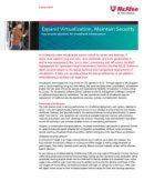 Sicherheitsentscheidungen für virtualisierte Umgebungen