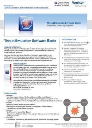 Threat Emulation Software Blade
