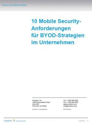10 Mobile Security-Anforderungen