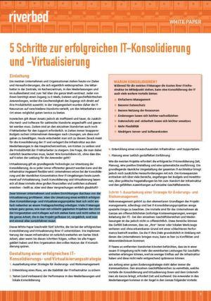 5 Schritte zur erfolgreichen IT-Konsolidierung und -Virtualisierung