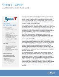 OpenIT GmbH erreicht Hochverfügbarkeit