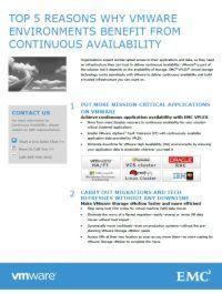 5 Gründe, warum VMware-Umgebungen von Hochverfügbarkeit profitieren