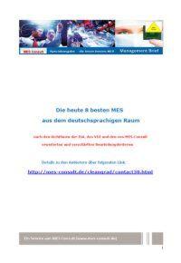 Die heute 8 besten MES aus dem deutschsprachigen Raum