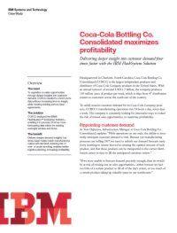 Coca Cola optimiert Geschäftsablauf