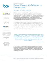 Zugang von Behörden zu Cloud-Inhalten