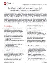Die Auswahl einer Web Application Scanning-Lösung